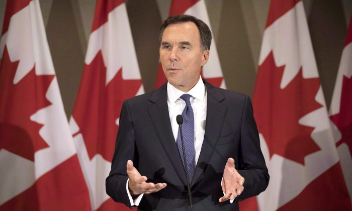 Finance Minister BillMorneauis focused more on targeted measures to enhance Canada's competitiveness rather than broad-based corporate tax cuts, according to sources. (The Canadian Press/Chris Young)