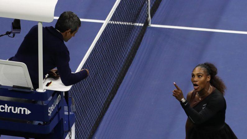 Serena Williams berates umpire at US Open