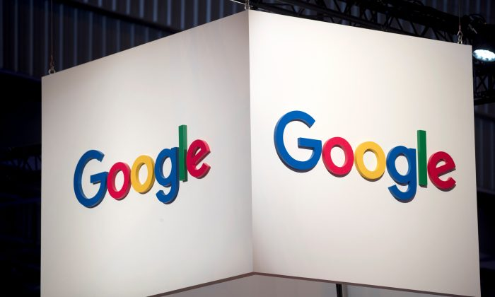 The logo of Google is pictured during the Viva Tech start-up and technology summit in Paris, France, May 25, 2018. (Charles Platiau/Reuters)