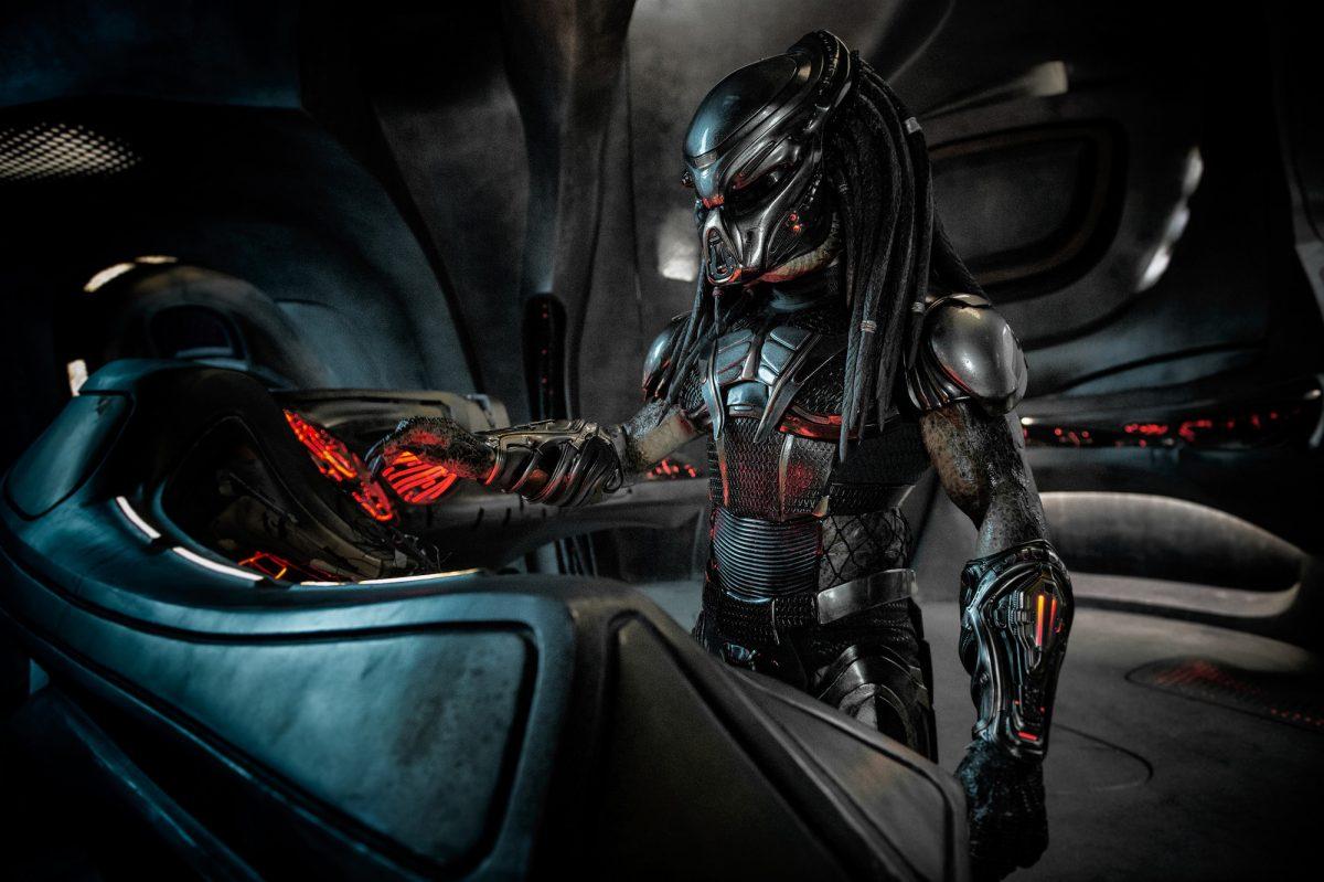 Predator stands in spaceship