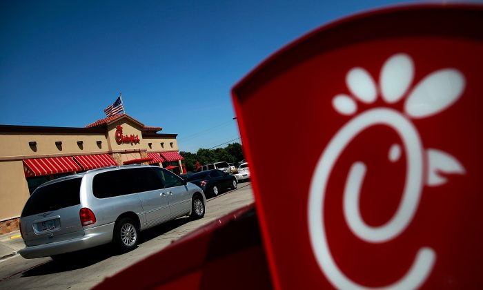 Drive through customers wait in line on 'Chick-fil-A Appreciation Day' in Fort Worth, Texas, on Aug. 1, 2012. (Tom Pennington/Getty Images)