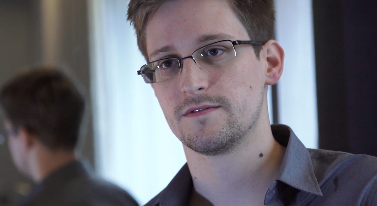 Former U.S. intelligence contractor Edward Snowden speaks during an interview in Hong Kong on Jan. 1, 2013. (The Guardian via Getty Images)