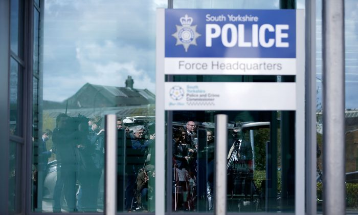 South Yorkshire Police  Force's headquarters  in Sheffield, England, on April 26, 2016. (Matthew Lloyd/Getty Images)
