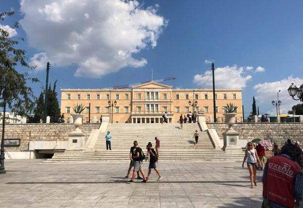 The Greek Parliament in Athens. (Aris Apostolopoulos/Special to The Epoch Times)