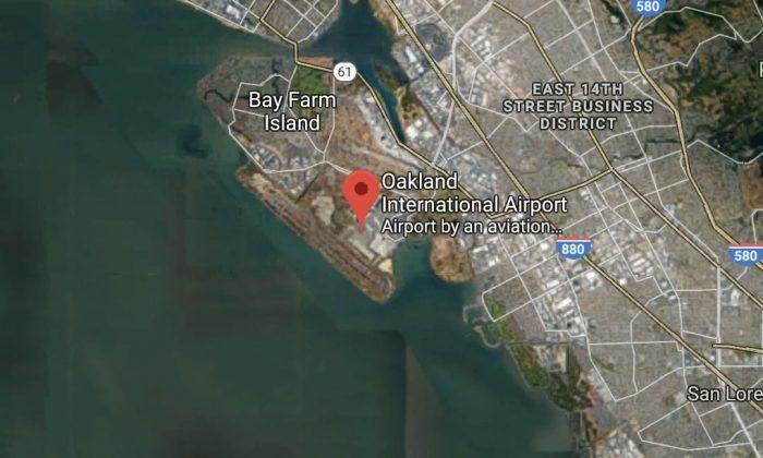 Oakland International Airport in Oakland, Calif. (Map data @2018 Google).