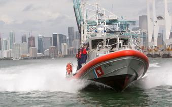 Coast guard crews rescue a boater near Alamida on Sep. 11. (U.S. Coast Guard website)