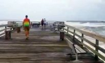 Video: Hurricane Florence Rocks Wooden Pier in Nags Head