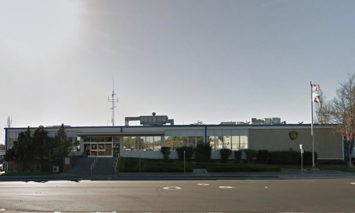 Vallejo Police Department. 111 Amador St, Vallejo, CA 94590. (Map data @2018 Google)