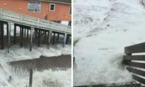 Video: Hurricane Florence Slams Pier in N. Carolina