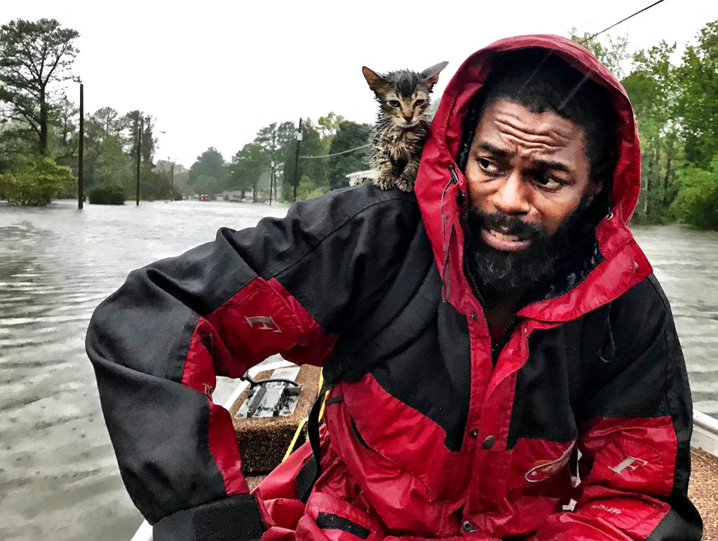 Man rescued from Hurricane Florence