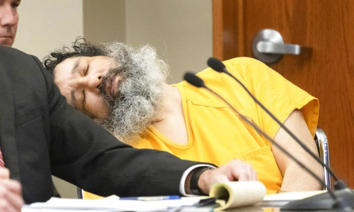 Anthony Garcia appears unresponsive at the Douglas County Court in Omaha, Neb., Sept. 14, 2018. (Kent Sievers/Omaha World-Herald via AP, Pool)
