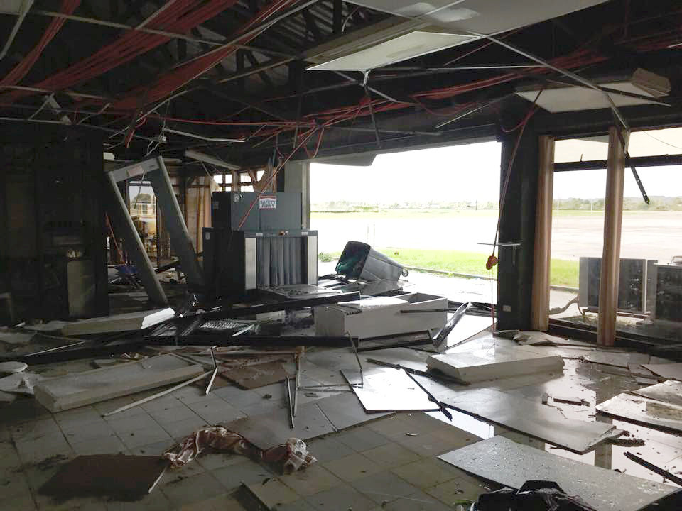 Tuguegarao Airport is damaged due to Typhoon Mangkhut