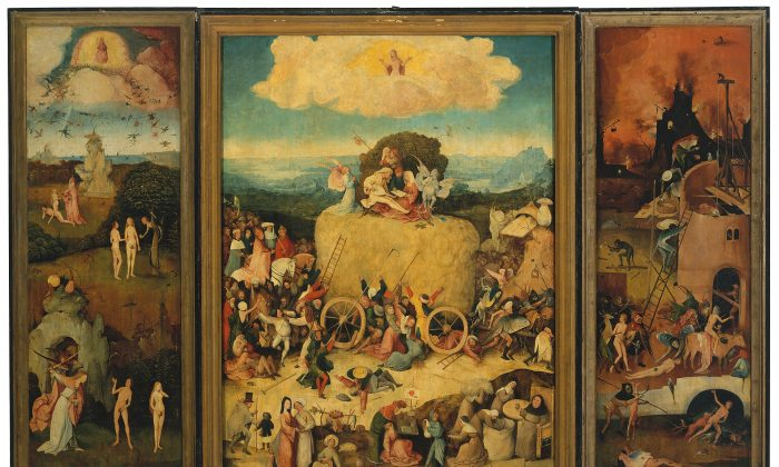 "Hieronymus Bosch, ""The Haywain,"" circa 1516, by Hieronymus Bosch. 53 inches x 79 inches. Museo del Prado, Spain. (Public Domain)"