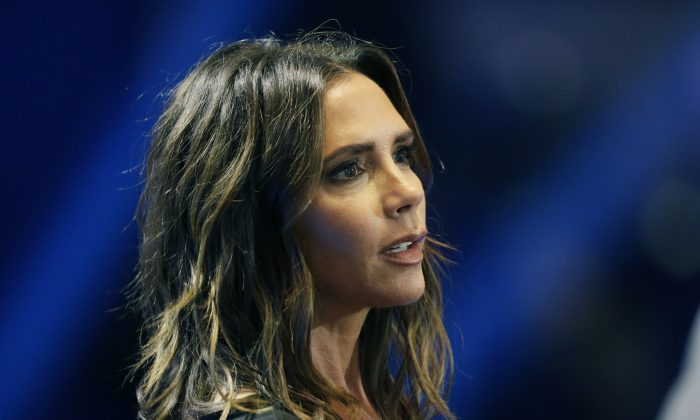 File—Victoria Beckham attends the UEFA Champions League draw at the Grimaldi Forum, in Monaco on Aug. 30, 2018— Beckham has brought her fashion brand home to London Fashion Week for the first time to mark a decade in the business, it was reported on Sunday, Sept. 16, 2018. (Photo by Claude Paris)