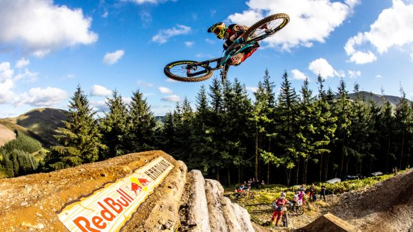 Atherton performs freeride-style jump