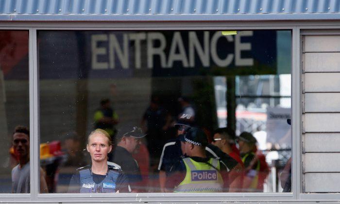 Police prepare for music festival in Melbourne, Australia, on Dec. 5, 2015. (Darrian Traynor/Getty Images)