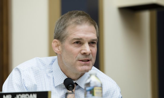 Rep. Jim Jordan (R-Ohio) in Washington on Dec. 13, 2017. (Samira Bouaou/The Epoch Times)