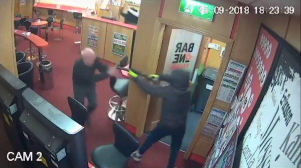 CCTV still of O'Connor tackling robber