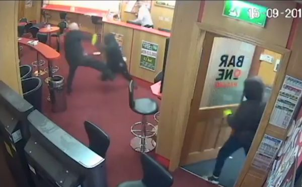 CCTV still of O'Connor tripping robber