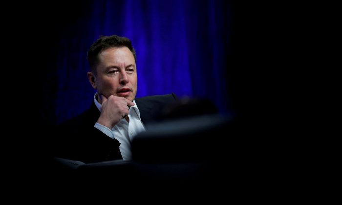 Tesla Motors CEO Elon Musk speaks during the National Governors Association Summer Meeting in Providence, Rhode Island, U.S., Jul. 15, 2017.  (Reuters/Brian Snyder)