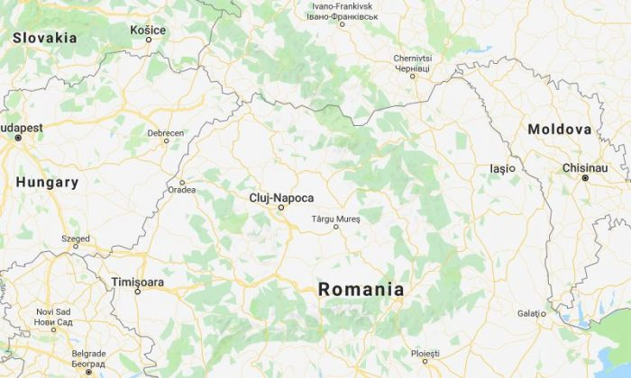 Map of Romania and other countries on Sept. 17, 2018. (Screenshot/Google Maps)