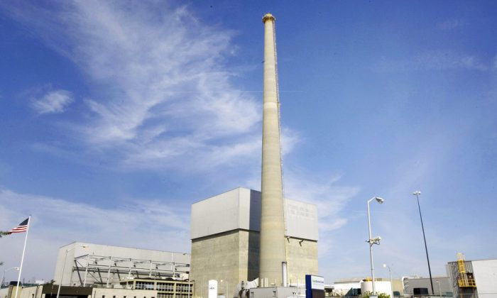 America's oldest nuclear power plant is shuts down on Sept. 17, 2018. (Peter Ackerman/The Asbury Park Press via AP)