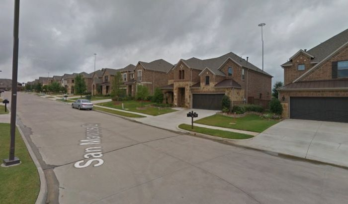 Five people who were being held hostage by a man inside a home near Dallas were rescued, but the armed man is still engaged in the armed standoff. (Google Street View)