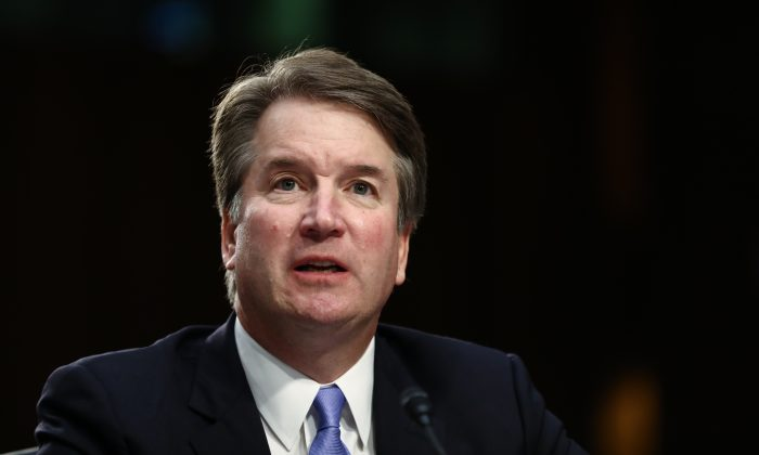 Supreme Court Justice Brett Kavanaugh on Capitol Hill in Wash., on Sept. 6, 2018. (Samira Bouaou/The Epoch Times)