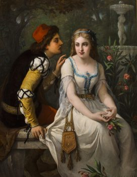 Painting by Jules Salles-Wagner of Romeo and Juliet.