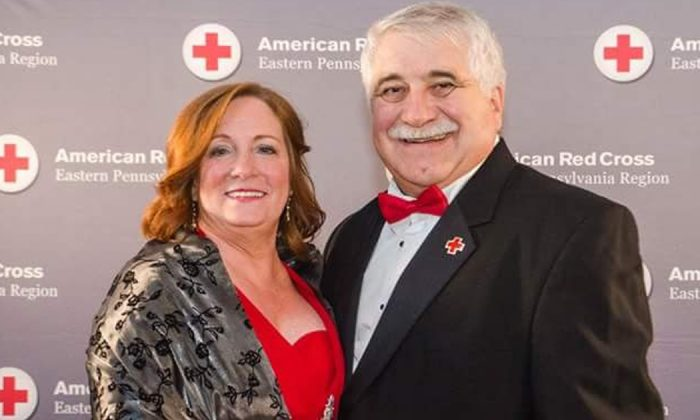 Bill Goldsworthy and his wife, Jannet, at a Red Cross event (Courtesy of Bill Goldsworthy)