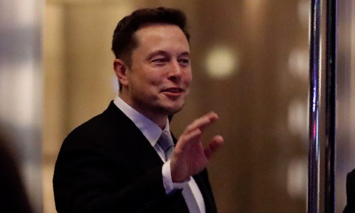 Elon Musk, the co-founder and chief executive of Tesla, during a ceremony in Dubai on Feb. 13, 2017. (Karim Sahib/AFP/Getty Images)