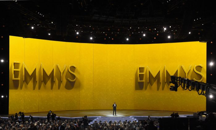 Michael Che speaks onstage during the 70th Emmy Awards at Microsoft Theater in Los Angeles, Calif. on Sept. 17, 2018. (Kevin Winter/Getty Images)