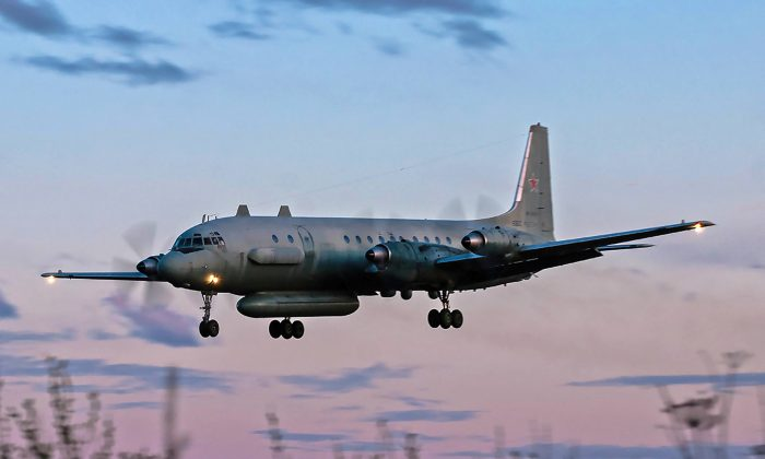 File photo of a Russian IL-20M (Ilyushin-20M) plane landing at an unknown location on July 23, 2006. (Nikita Shchyukin/AFP/Getty Images)