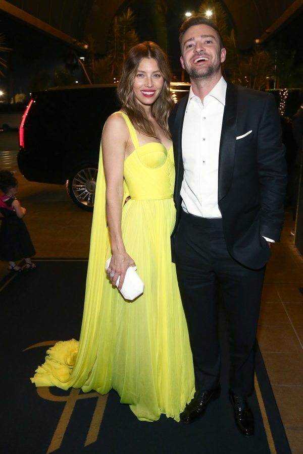 Jessica Biel and Justin Timberlake at 70th Emmy's after party