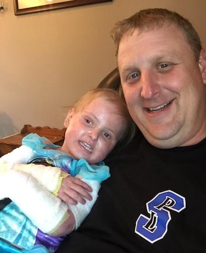 Brent Gehring holding Emma.