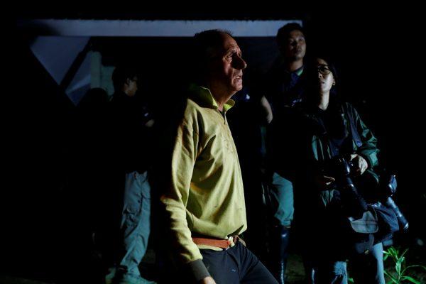 British caver Vernon Unsworth looks to Tham Luang cave complex