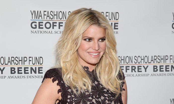 Jessica Simpson attends YMA Fashion Scholarship Fund Geoffrey Beene National Scholarship Awards Gala in New York on Jan. 12, 2016. (Neilson Barnard/Getty Images)
