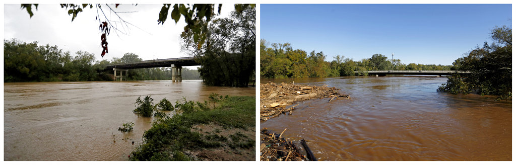 Cape Fear River floods from Florence