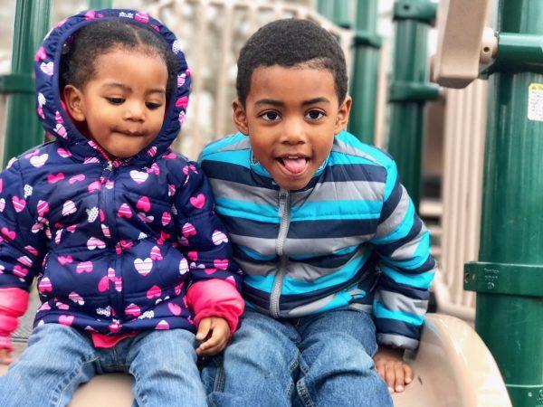 Shaliyah Ali's children Ava and CJ