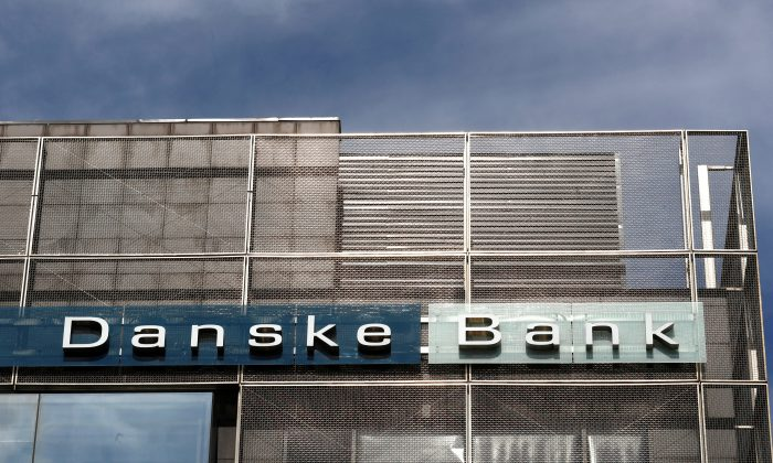 Danske Bank sign is seen at the bank's Estonian branch in Tallinn, Estonia on Aug. 3, 2018. (Ints Kalnins/Reuters )