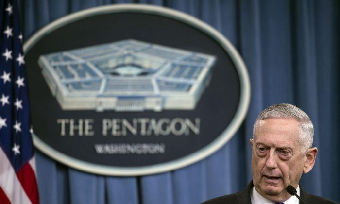 U.S. Defense Secretary Jim Mattis at the Pentagon on Aug. 28, 2018. (NICHOLAS KAMM/AFP/Getty Images)