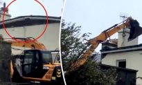 Hero Neighbors Use Backhoe to Keep Roof From Blowing Away in Storm Ali