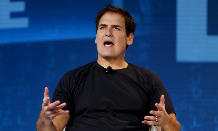 Mark Cuban, owner of the NBA Dallas Mavericks,  speaks during the Wall Street Journal Digital Live (WSJDLive) conference at the Montage hotel in Laguna Beach, California, October 20, 2015. (By Mike Blake/Reuters)
