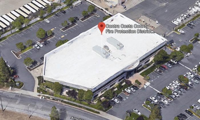 Contra Costa County Fire Protection District - Administration Building in Concord, California. (Map data @2018 Google)