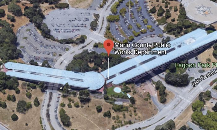 Marin County Public Works Department in San Rafael, California. (Map data @2018 Google)