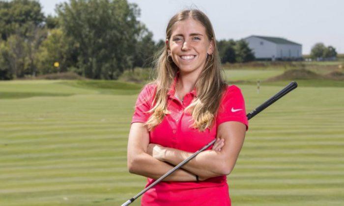 Celia Barquin Arozamena poses for a photo on Sept. 7, 2017. The former Iowa State University golfer was found dead in Ames, Iowa on Sept. 17, 2018. (Luke Lu/Iowa State University via AP)