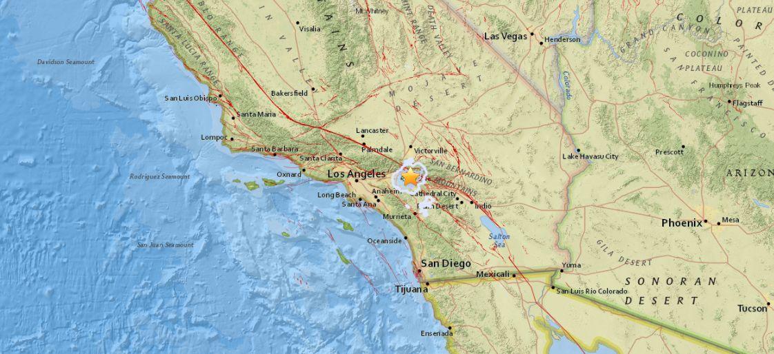 earthquake today san bernardino california