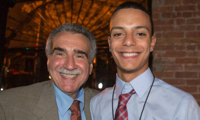 Judge Gubbay and Daniel Aguilar at a Young New Yorkers fundraising dinner. (Courtesy of Young New Yorkers)