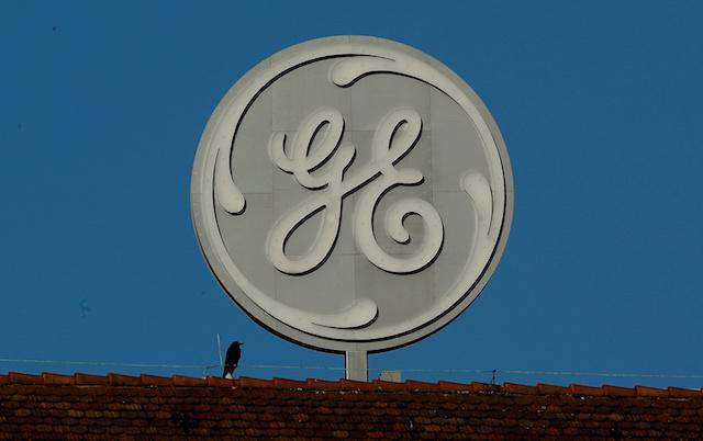 The logo of General Electric is seen at its plant in Baden, Switzerland Nov. 15, 2017. (ReutersArnd Wiegmann)