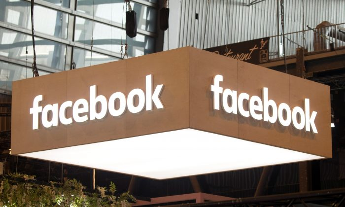 The logo of Facebook is pictured during the Viva Tech start-up and technology summit in Paris, France, on May 25, 2018. (Charles Platiau/Reuters)